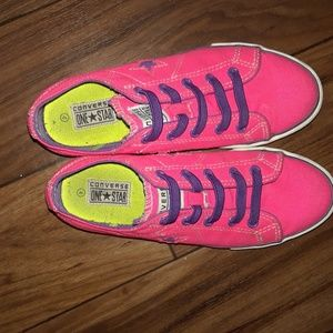 Pink and Purple Converse